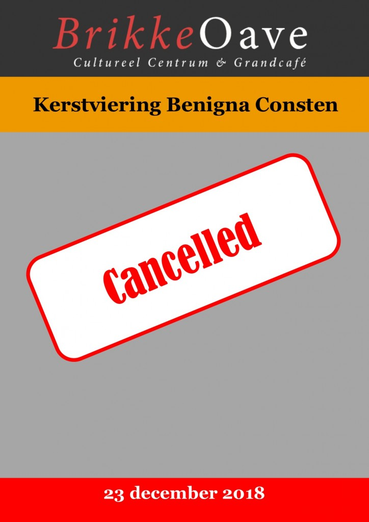 Poster benigna cancelled
